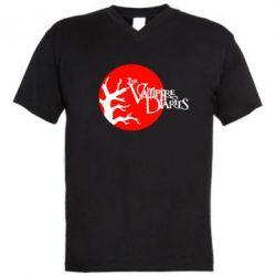 Мужская футболка  с V-образным вырезом The Vampire Diaries - FatLine