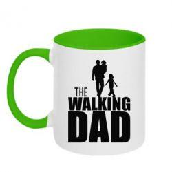 Кружка двухцветная The walking dad