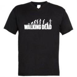 Мужская футболка  с V-образным вырезом The Walking Dead Evolution - FatLine