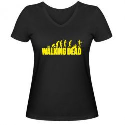 Женская футболка с V-образным вырезом The Walking Dead Evolution - FatLine