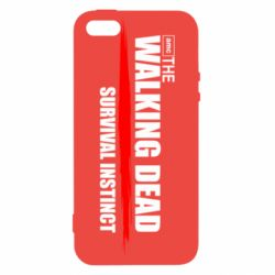 Чехол для iPhone5/5S/SE The walking dead survival instinct