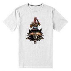 Мужская стрейчевая футболка The Witcher and Cyril