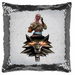 Подушка-хамелеон The Witcher and Cyril