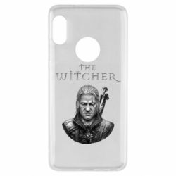 Чехол для Xiaomi Redmi Note 5 The witcher art black and gray