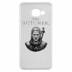 Чехол для Samsung A3 2016 The witcher art black and gray