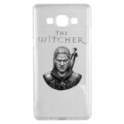 Чехол для Samsung A5 2015 The witcher art black and gray