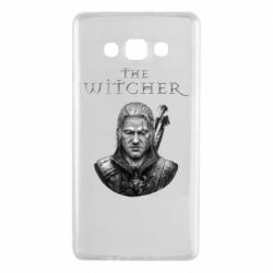 Чехол для Samsung A7 2015 The witcher art black and gray
