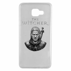 Чехол для Samsung A7 2016 The witcher art black and gray