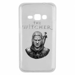 Чехол для Samsung J1 2016 The witcher art black and gray