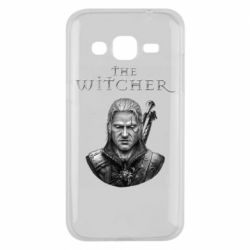 Чехол для Samsung J2 2015 The witcher art black and gray
