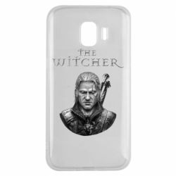 Чехол для Samsung J2 2018 The witcher art black and gray