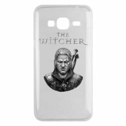 Чехол для Samsung J3 2016 The witcher art black and gray