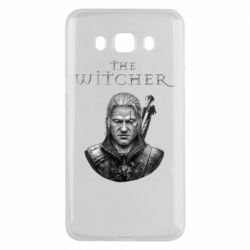 Чехол для Samsung J5 2016 The witcher art black and gray