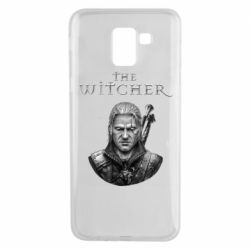 Чехол для Samsung J6 The witcher art black and gray