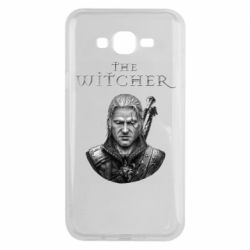 Чехол для Samsung J7 2015 The witcher art black and gray