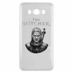 Чехол для Samsung J7 2016 The witcher art black and gray