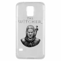 Чехол для Samsung S5 The witcher art black and gray