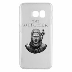 Чехол для Samsung S6 EDGE The witcher art black and gray