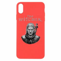 Чехол для iPhone Xs Max The witcher art black and gray