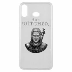 Чехол для Samsung A6s The witcher art black and gray