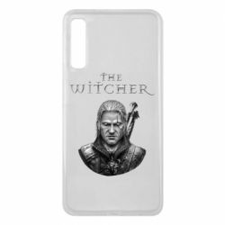 Чехол для Samsung A7 2018 The witcher art black and gray