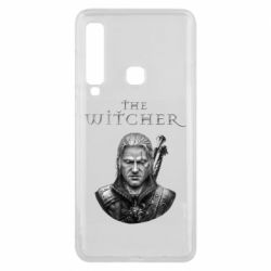 Чехол для Samsung A9 2018 The witcher art black and gray
