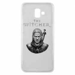 Чехол для Samsung J6 Plus 2018 The witcher art black and gray