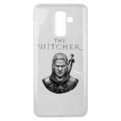 Чехол для Samsung J8 2018 The witcher art black and gray