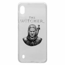 Чехол для Samsung A10 The witcher art black and gray