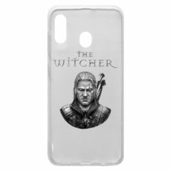 Чехол для Samsung A20 The witcher art black and gray