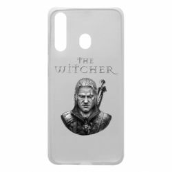 Чехол для Samsung A60 The witcher art black and gray
