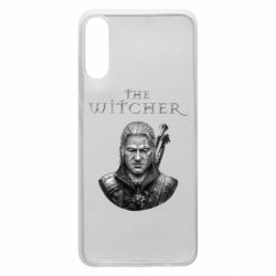 Чехол для Samsung A70 The witcher art black and gray