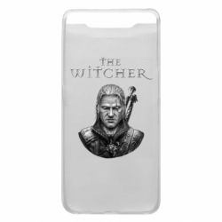 Чехол для Samsung A80 The witcher art black and gray
