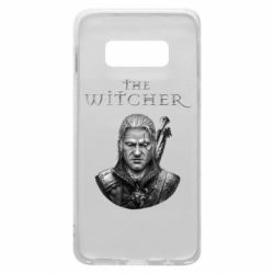 Чехол для Samsung S10e The witcher art black and gray