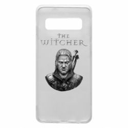 Чехол для Samsung S10 The witcher art black and gray
