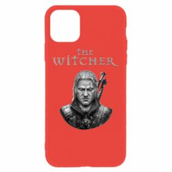 Чехол для iPhone 11 The witcher art black and gray