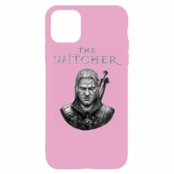 Чехол для iPhone 11 Pro The witcher art black and gray