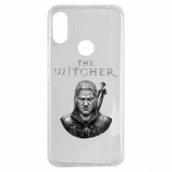 Чехол для Xiaomi Redmi Note 7 The witcher art black and gray
