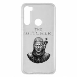 Чехол для Xiaomi Redmi Note 8 The witcher art black and gray