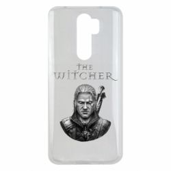 Чехол для Xiaomi Redmi Note 8 Pro The witcher art black and gray