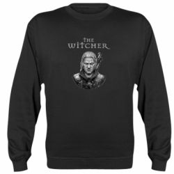 Реглан (свитшот) The witcher art black and gray