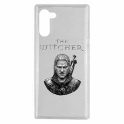 Чехол для Samsung Note 10 The witcher art black and gray