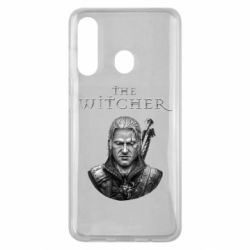 Чехол для Samsung M40 The witcher art black and gray