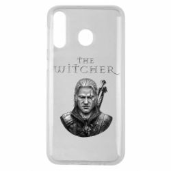 Чехол для Samsung M30 The witcher art black and gray
