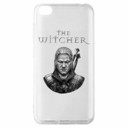 Чехол для Xiaomi Redmi Go The witcher art black and gray