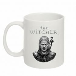 Кружка 320ml The witcher art black and gray