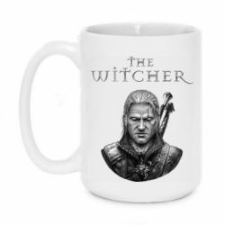 Кружка 420ml The witcher art black and gray