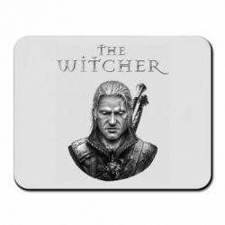 Коврик для мыши The witcher art black and gray
