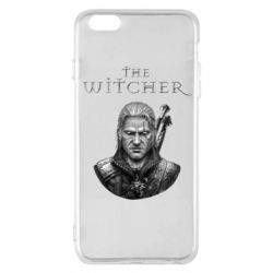 Чехол для iPhone 6 Plus/6S Plus The witcher art black and gray