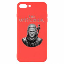 Чехол для iPhone 7 Plus The witcher art black and gray